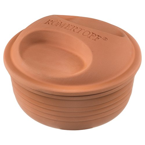 Römertopf 15005 Multi-Fuctional Round Clay Baker 2-4 People MADE IN GERMANY