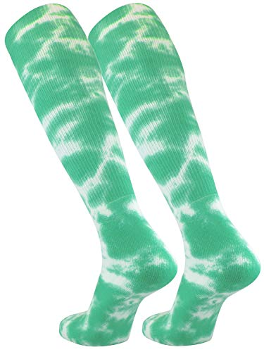 TCK Sports Tie Dye Multisport Tube Socks (Lime Green/White, ()