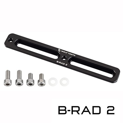 (Wolf Tooth Components B-RAD Mounting Base Black, 2 Slot)