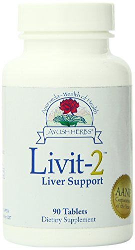 Ayush Herbs Inc Herbal Supplement, Livit-2, 90 Count For Sale