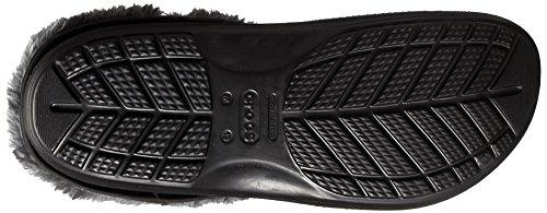 Crocs Unisex Blitzen Ii Luxe forrado Zueco Black/Charcoal