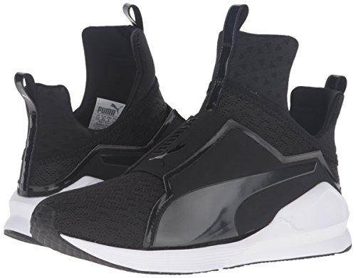 PUMA Women's Fierce Eng Mesh Cross-Trainer Shoe, Black White, 9.5 M US by PUMA (Image #6)