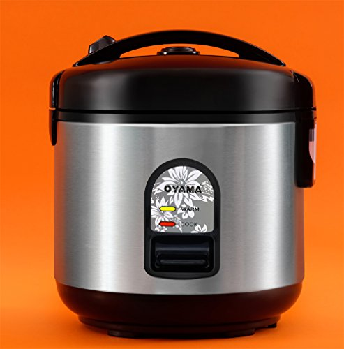 Oyama CFS-F10B 5 Cup Rice Cooker, Stainless Black (Oyama 10 Cup Stainless Steel Rice Cooker)