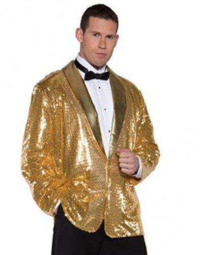 Underwraps Men's Sequin Jacket, Gold, One Size