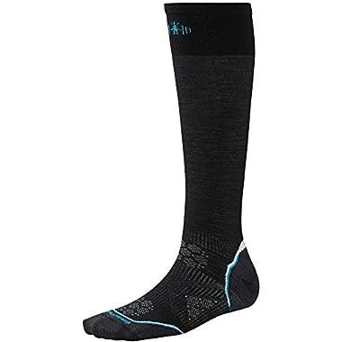 Smartwool Womens PhD Ski Ultra Light Socks (Black) Medium