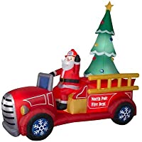 Gemmy 8.2021-ft Lighted Santa's Delivery Truck Christmas Inflatable
