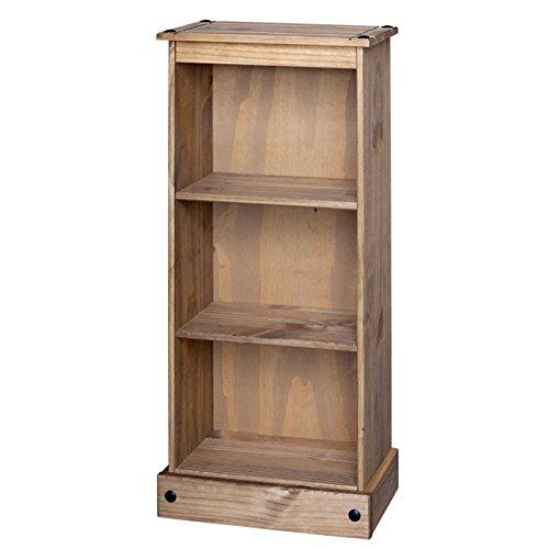 Mercers Furniture COR78 Corona Low Narrow Bookcase - Pine(Brown)