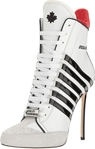 DSQUARED2-Womens-Vitello-Vernice-Ankle-Boot