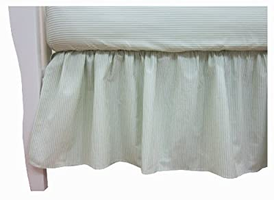 American Baby Company 100% Cotton Percale Dust Ruffle