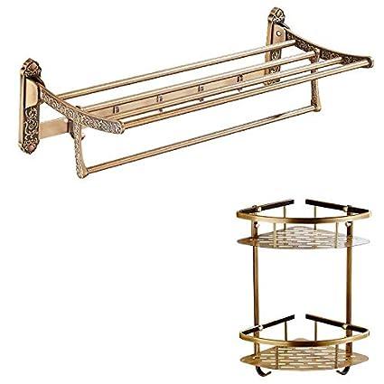 Daadi Toalla de baño de Metal Dobles montados en Rack en un Espacio de Rack de