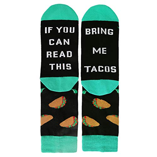 Novelty Funny Saying Crew Socks If You Can Read This Bring...