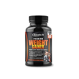 Natural's Fit Premium Weight Gainer 1000Mg Capsule Supplement For Men And Women – 60 Veg Capsules
