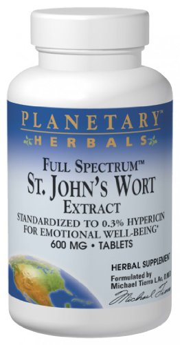 Planetary Herbals St. John's Wort Extract Full Spectrum 600mg, For Emotional Well-Being