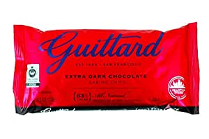 E Guittard 63% Extra Dark Chocolate Chip, 11.5-Ounce (Pack of 4)