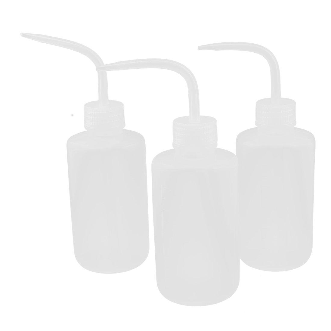 Plastic Bent Tip Oil Liquid Squeeze Bottle Dispenser 250ml 3pcs Clear uxcell a16010500ux0866