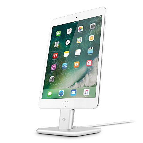 Twelve South 12-1624 Hirise 2 Stand con Supporto Cavo Lightning per iPhone/iPad, Argento