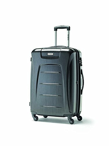 Samsonite Winfield 3 Fashion Spinner Luggage, Charcoal (Brushed), Checked-Large