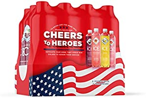 Sparkling Ice, Sparkling Water, with antioxidants and vitamins, Zero Sugar, 17 FL OZ Bottles (Pack of 12)