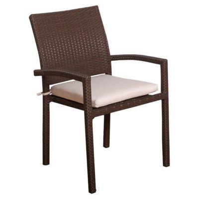 - International Home Miami Atlantic Dining Arm Chair with Cushion