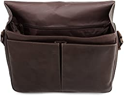 Kenneth Cole Reaction Columbian Leather Messenger Bag in Black