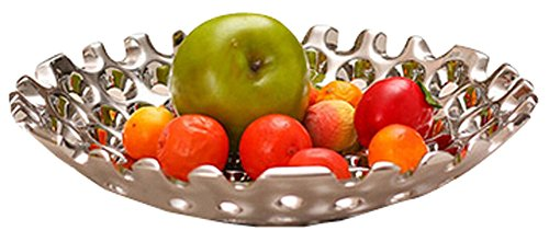 Fashion Compote And Contracted Fruit Bowl/Plates Dried Fruit Pierced Tray Silver