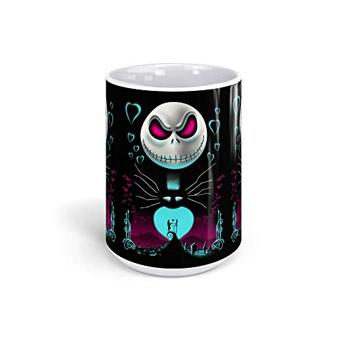 Ceramic Coffee Mug Animated Cartoon Cup Jack From The Halloween Town Cartoons Caricature Drinkware Super White Mugs Family Gift Cups 15oz 443ml