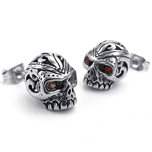 KONOV Zirconia Stainless Gothic Earrings