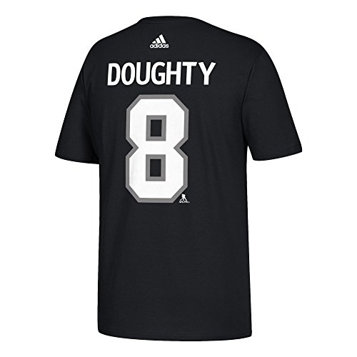 adidas Los Angeles Kings Drew Doughty NHL Silver Player Name & Number T-Shirt - Medium