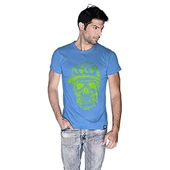 Creo Green Coco Skull T-Shirt For Men - L, Blue