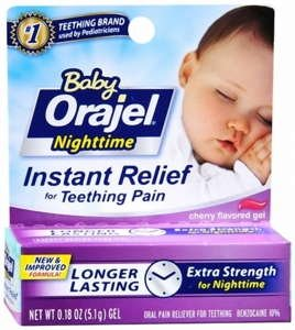 Orajel bébé de nuit Formule Teething Pain Relief Gel - 0,18 oz (Pack de 2)
