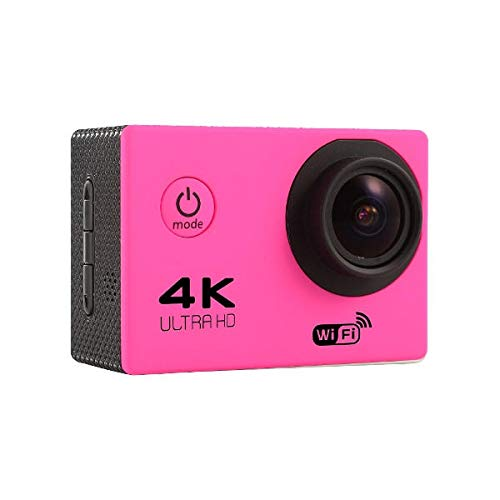 F60R Action Camera - F60R 4K Camera - F60 Sensor OV4689 4K 2.0inch 170 Wide Angle Lens Wifi Sport DV with Accessories - Pink (F60 Action Camera)