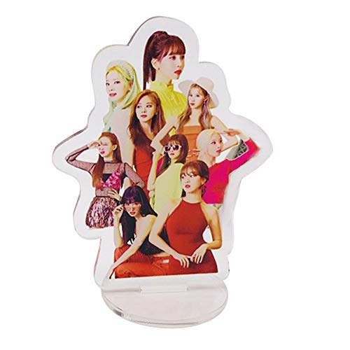 Youyouchard Kpop Blackpink Twice GOT7 Seventeen Acrylic T-Shaped Character Image Display Stand/Standing Figure Model Plate with Holder Deco Fans Gift(Twice)