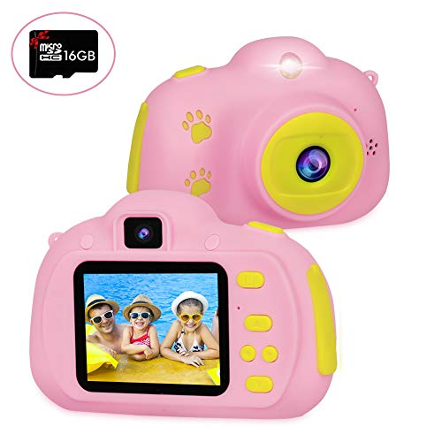 Kid Camera for Boys and Girls Age 3-12,RegeMoudal Children Camera Great Birthday Gift&Toy Kid Digital Video Camera with Shockproof Mp3 8MP HD (16GB Memory Card Included)
