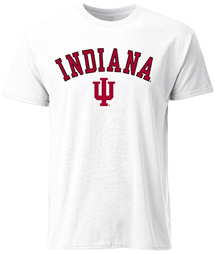 NCAA Indiana Hoosiers Men's Ouray Short Sleeve Tee, Medium, White