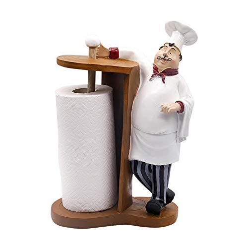 MLQ Paper Towel Holder, Restaurant Roll Holder Chef Decoration Perfect Creative Simple Restaurant Roll Holder Shop Home Practical Set Up Kitchen Towel Rack