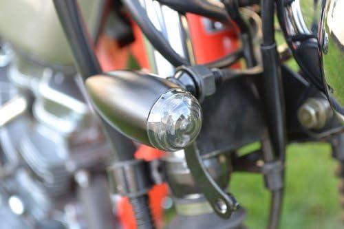 Aluminium Noir Moto LED Style de Puce Signaux Tourner Clignotant Caf/é Coureur Style