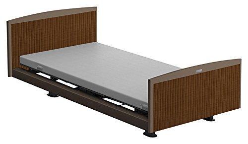パラマウントベッド 電動ベッド インタイム1000 マットレス付 1+1モーター ヨーロピアン フットボードあり (グレー) RQ-1136BA+RM-E251 【4梱包】 B076DPNT2T 木目柄(ライト)|ヨーロピアン フットボードあり (グレー) 木目柄(ライト)