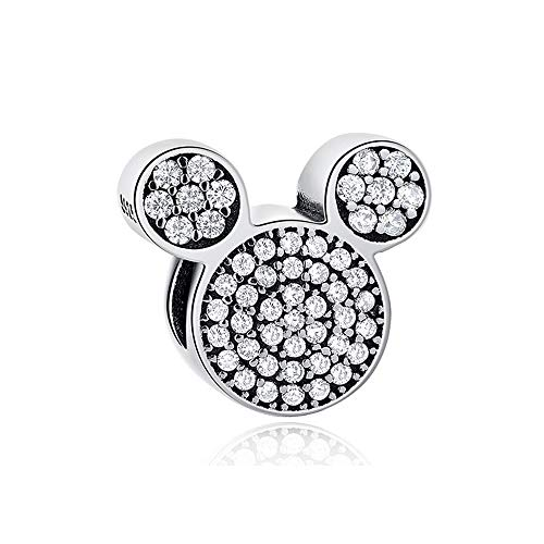 MIADEAL Mickey Mouse Charm, Sterling Silver, Pandora ()