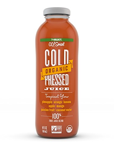 - 7-Select Organic Cold Pressed Juice - Tropical Glow, (14 Oz, 6-Pack)