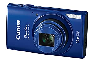 Canon Powershot ELPH 170 Metallic Blue 12x Optical Zoom 20MP Compact Camera