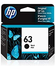 HP 63 | Ink Cartridge | Black | Works with HP DeskJet 1112, 2100 Series, 3600 Series, HP ENVY 4500 Series, HP OfficeJet 3800 Series, 4600 Series, 5200 Series | F6U62AN