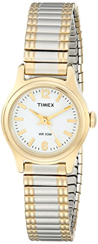 Classic Dress Watch | Women's Gold-Tone Round Case Two-Tone Band | Timex T53822