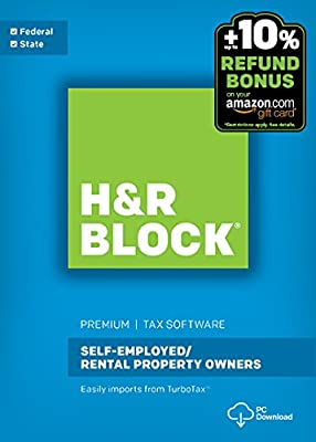 H&R Block Tax Software Premium + State 2016 Win + Refund Bonus Offer