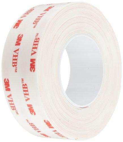 3M VHB Tape 4930, 1 in width x 5 yd length (1 Roll) by 3M