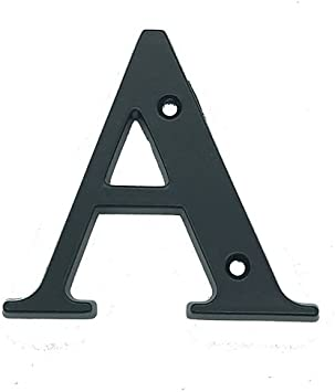 schwarz 6 Hausnummer aus Aluminium,120 mm