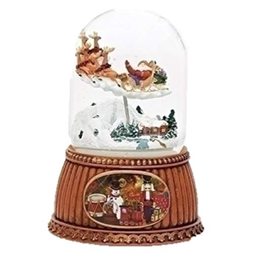 (Roman Musical Santa Claus in Sleigh Water Snow Globe Plays Jingle Bells 100mm)