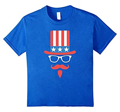Uncle Sam Hat Glasses And Goatee Funny 4th of July T-shirt