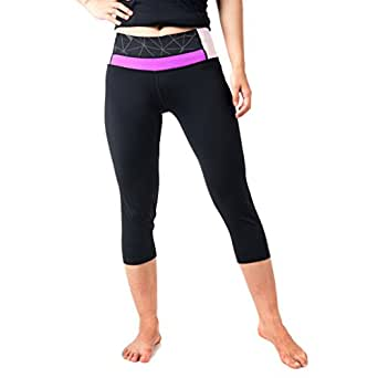 WW SPORTOWN Women's Yoga Pants Colored Waist Breathable Moisture-Wicking