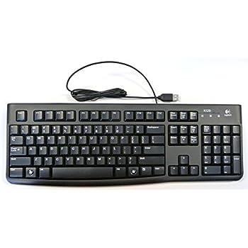 3c5950622af Amazon.com: Logitech Deluxe 250 Vista Qualified USB Keyboard (Black ...
