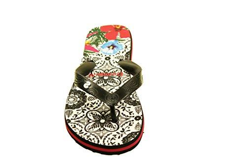 Desigual 61HS5B8-200 Damen Zehensteeg-Zehentrenner Sandaletten